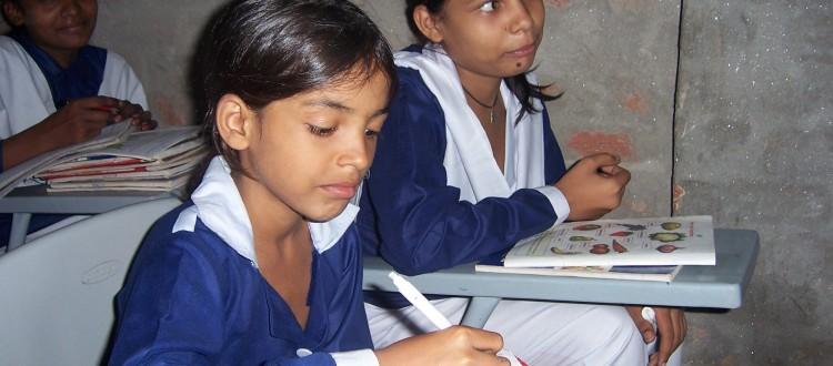 Students in Machike Boarding School Busy in Their Class-work