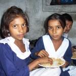 Students Enjoying a Meal